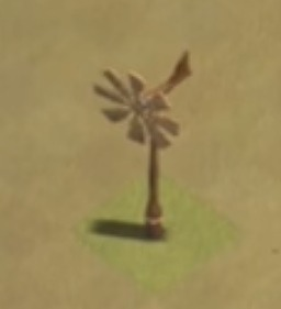 クラクラ 花壇 風向計